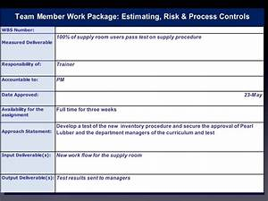 work package With project management work package template