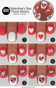 15 Step By Step Valentine's Day Nail Art Tutorials For ...
