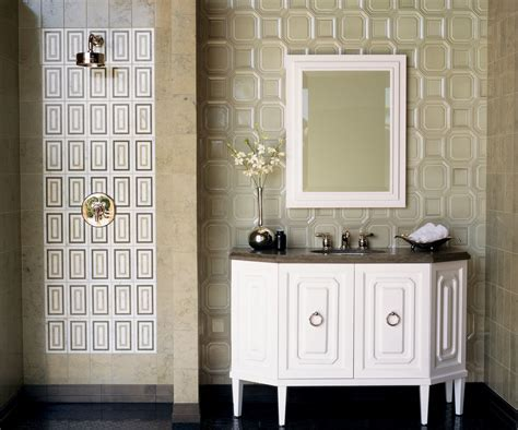 travertine tile bathroom Bathroom Contemporary with
