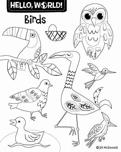 Coloring Hello Printables Activities Birds