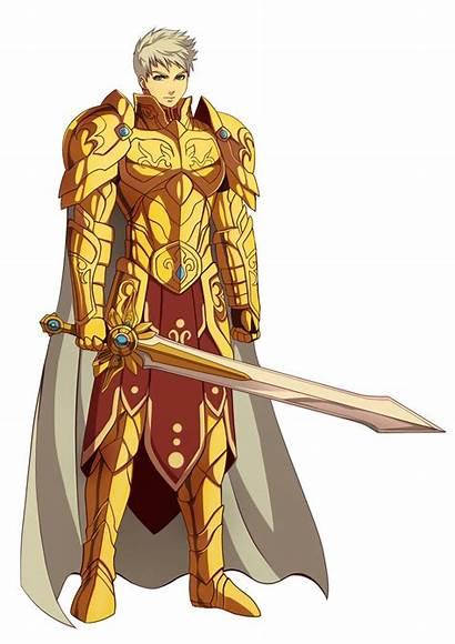 Armor Anime Knight Rpg Warrior Guerreiro Dourado