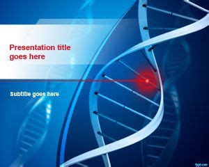 dna structure powerpoint template  template