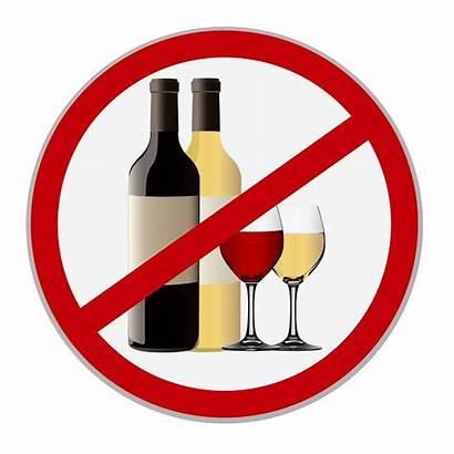 Alcohol Sign Allowed Liquor Ban Wine Vector