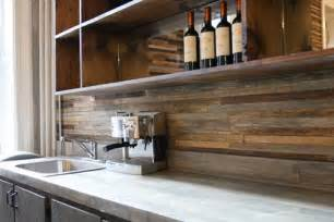 wood backsplash kitchen back splash made from reclaimed wood the contrast created by the rustic wood and modern
