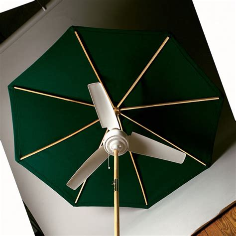 summer blast umbrella fan  green head