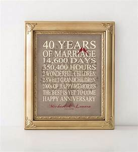 wedding anniversary gift 40th anniversary gift personalized With 40th wedding anniversary traditional gift