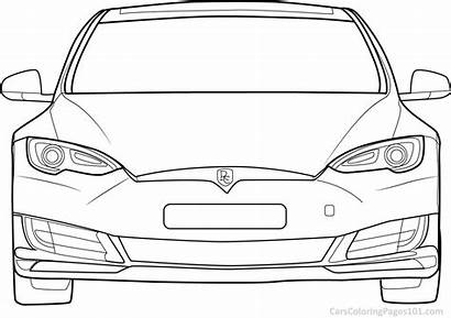 Tesla Coloring Shooting Brake Printable Carscoloringpages101 Adults