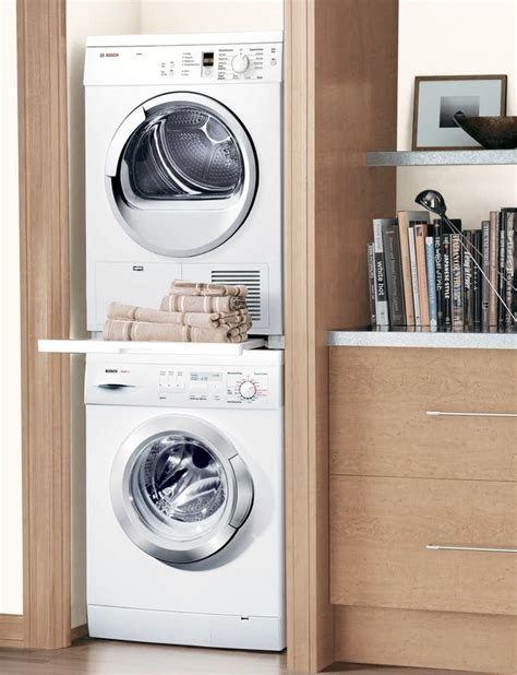 small stackable washer dryer combo invades  laundry room  modern simplicity homesfeed
