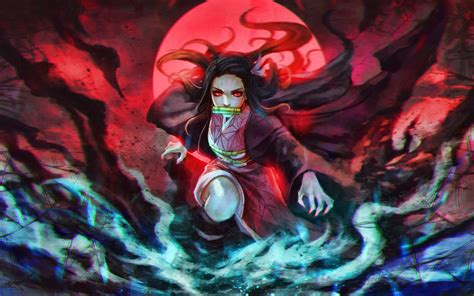 wallpapers nezuko kamado  moon demon slayer