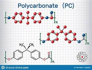 Polycarbonate Pc Thermoplastic Polymer Molecule  Sheet Of