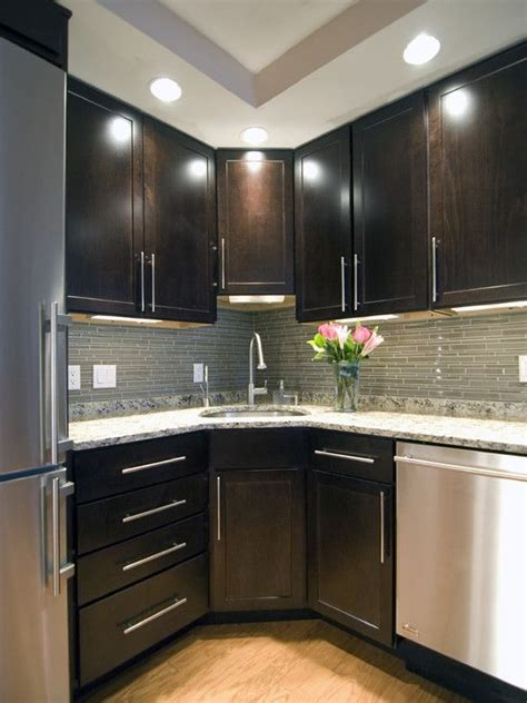 corner sink small kitchen design pictures remodel decor