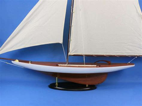 """Americas Cup Contender 50""""  Wooden Model Ship Large"""