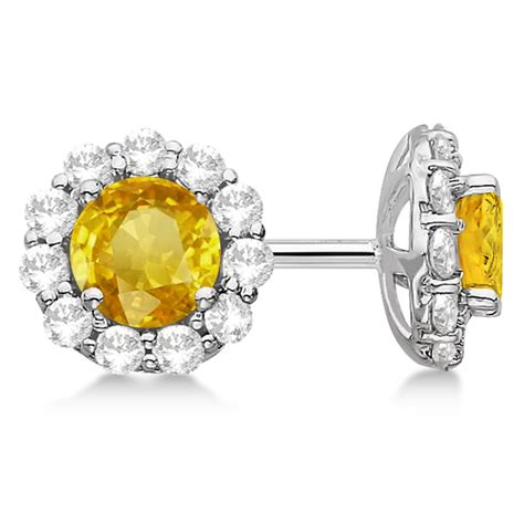 Halo Yellow Sapphire & Diamond Stud Earrings 14kt White. Turquoise Engagement Rings. Matching Necklace. Art Deco Diamond Bands. Normal Watches. Eternity Engagement Rings. Round Diamond Ring With Diamond Band. Emerald Bands. Emerald Cut Sapphire