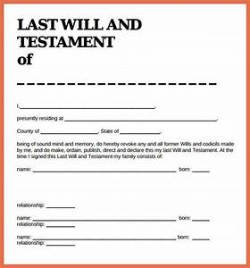 last will and testament sample bio example With write a will free template