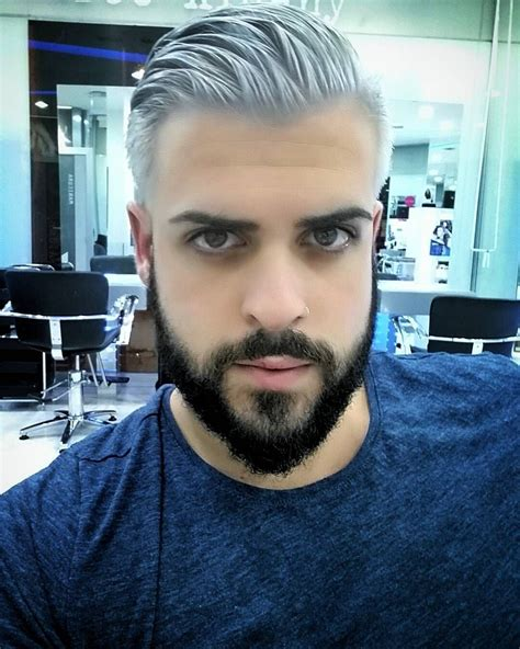 Pin By Jack Scott On Mens Color Silver Hair Men Grey