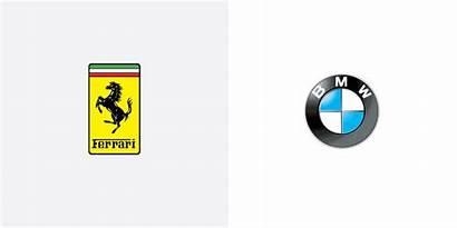 Logos Swap Brand Brands Colour Ferrari Bmw