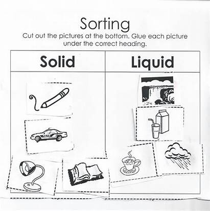Liquid Worksheet Solid Gas Grade Science Liquids