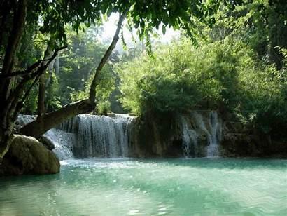 Waterfall Waterfalls Laos Si Tree Gifs Nature