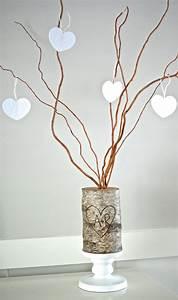 Birch Log Family Tree DIY Valentine's Day Decor