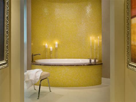 yellow bathrooms  bright ideas hgtv