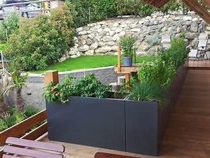 17 meilleures idees a propos de garde corps terrasse sur With grande jardiniere pour terrasse 17 pot de fleur exterieur design anakena pot grande taille