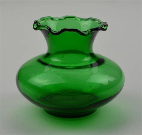 Green Vase by Blown Glass Made Green Vase 3 25 Quot