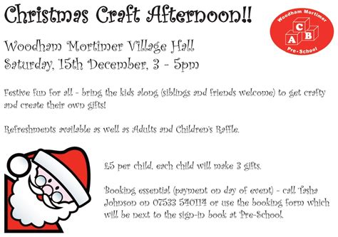 craft event book your place woodham 320 | Christmas Craft Event Poster