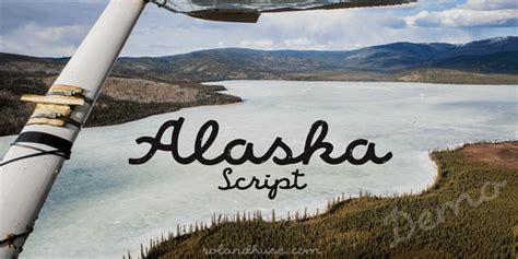 alaska script font befontscom