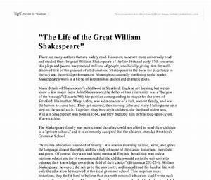 Thesis Statement Generator For Compare And Contrast Essay Biography Essay Of William Shakespeare S English Sample Essays also Thesis For Argumentative Essay Essay Of William Shakespeare Common Law Essay Short Essay Of William  Yellow Wallpaper Analysis Essay