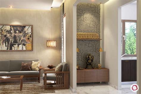 modern pooja room designs   wall niches