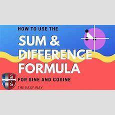 Math Analysis  Trigonometry  Sum And Difference Formulas