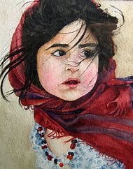 Beautiful Watercolor Portrait