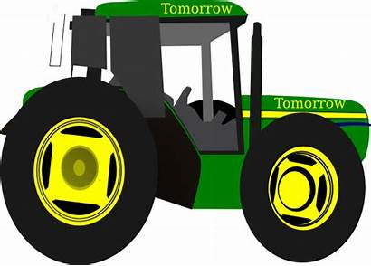 Tractor Deere Clip John Clipart Vector Cartoon