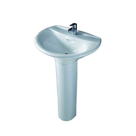 home depot pedestal sink base barclay products venice 650 pedestal combo bathroom sink