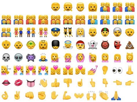 ethnically diverse iphone emojis added  ios
