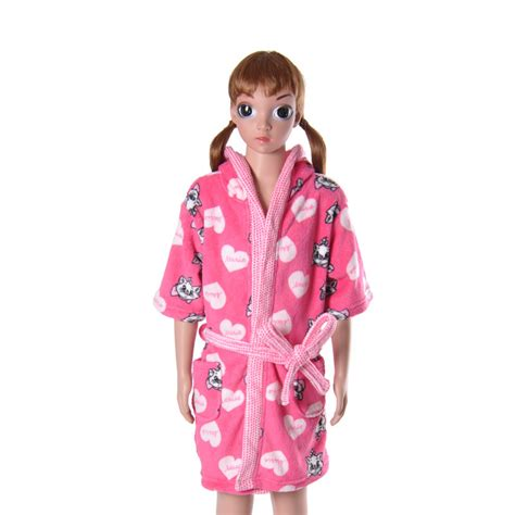 robe de chambre enfants children 39 s pink bathrobe coral fleece cat
