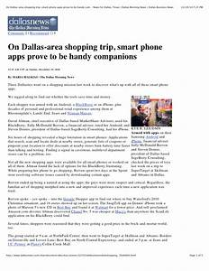 Interview with Dallas Morning News Dec 2010 12 Apps Of ...