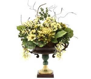 hand made dining table centerpiece silk flower arrangement home decorating ideas vintage