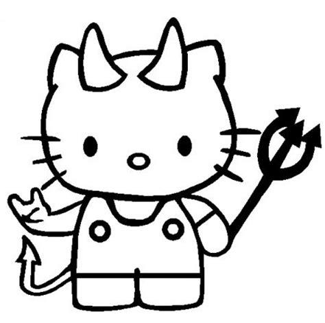 dibujo de kitty en halloween  colorear colorear imagenes