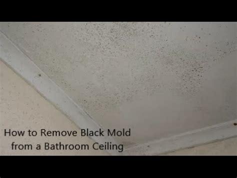 remove black mold   bathroom ceiling youtube