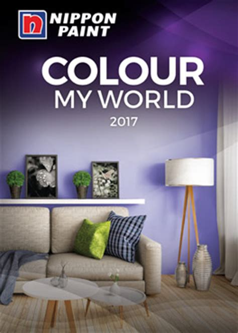 colour my world 2017 catalogue nippon paint singapore