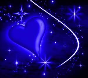 Blue Heart With Plasma Stars Background 1800x1600 ...