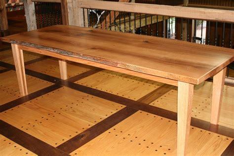 live edge oak table custom live edge quartersawn red oak slab dining table by