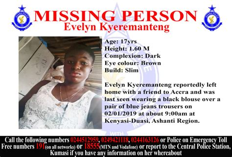 missing person ghana police service