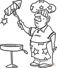 independence day bbq coloring page  printable