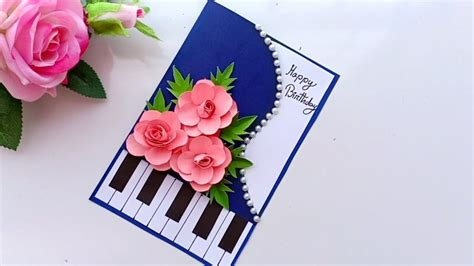 Beautiful Handmade Birthday card//Birthday card idea