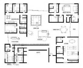 5 bedroom floor plan drafting eero saarinen 39 s miller house on behance