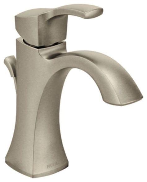 moen voss faucet brushed nickel moen voss single handle high arc bathroom faucet in