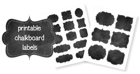 printable chalkboard labels life