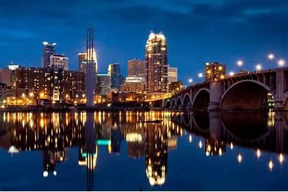 Minneapolis Skyline Minnesota Desktop Wallpapers Cities Twin